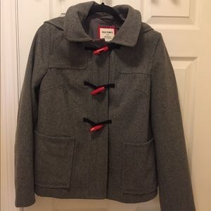 Old Navy gray wool pea coat New with tag. Sz M